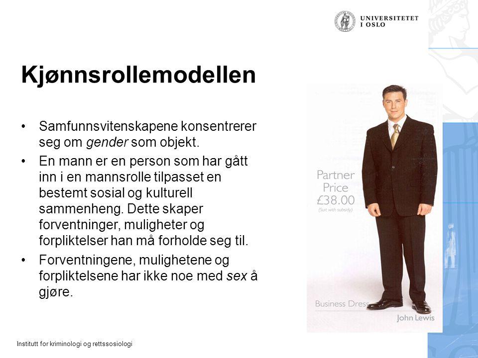 Kjønnsrollemodellen Samfunnsvitenskapene konsentrerer seg om gender som objekt.