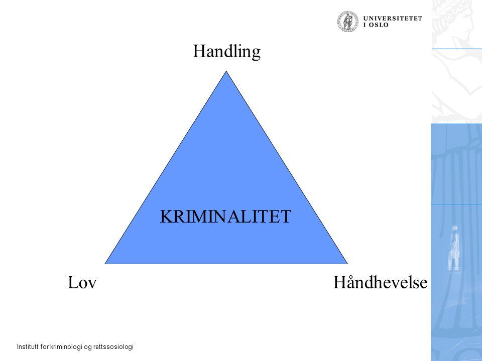 Handling KRIMINALITET Lov Håndhevelse