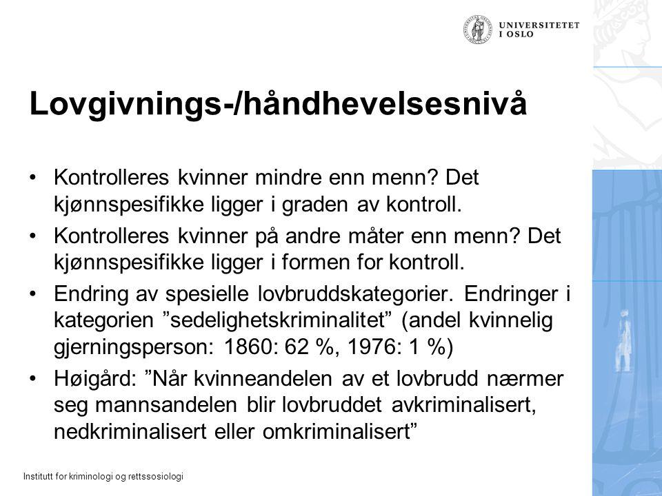 Lovgivnings-/håndhevelsesnivå
