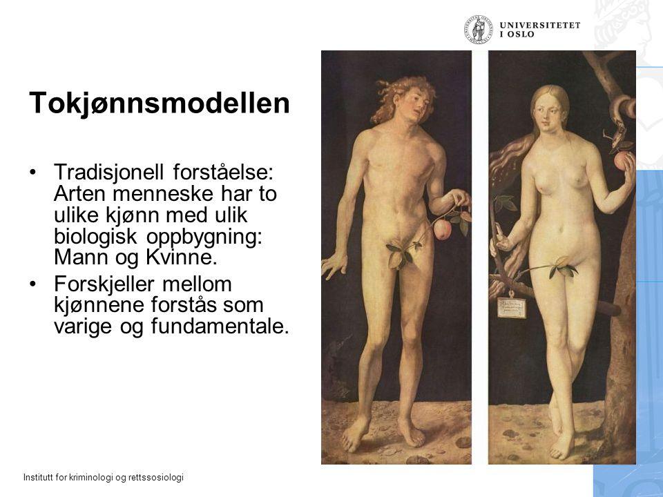 Tokjønnsmodellen Tradisjonell forståelse: Arten menneske har to ulike kjønn med ulik biologisk oppbygning: Mann og Kvinne.
