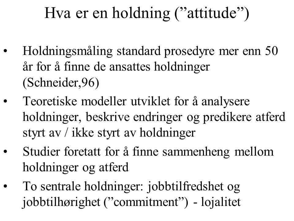 Hva er en holdning ( attitude )
