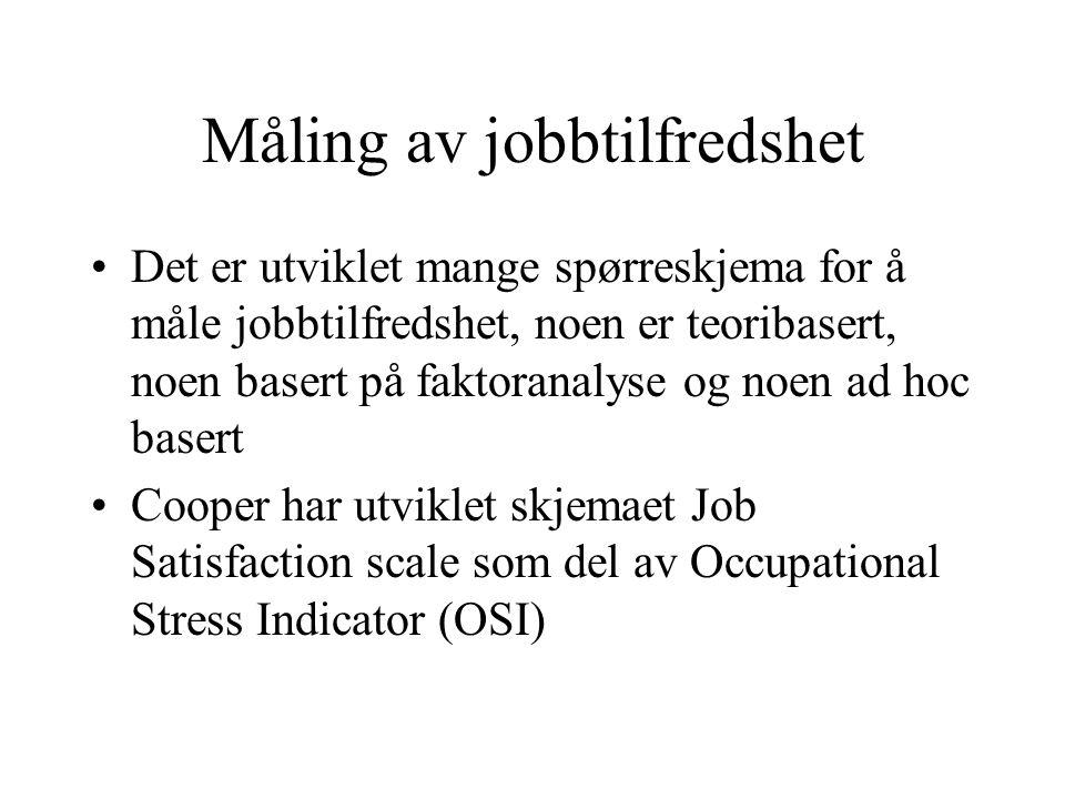 Måling av jobbtilfredshet