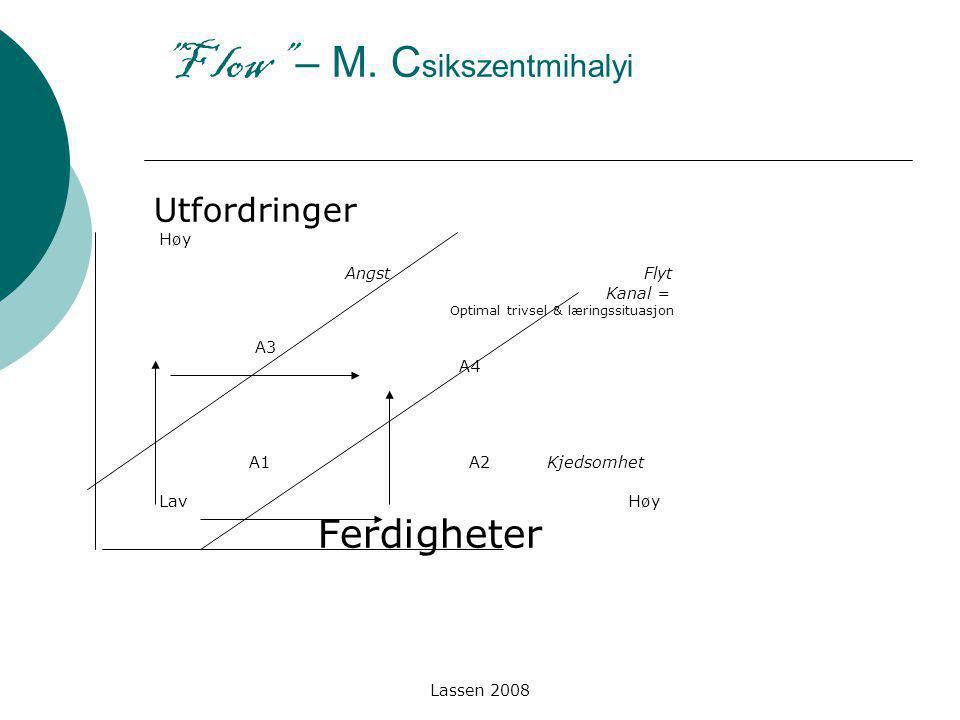F low – M. Csikszentmihalyi