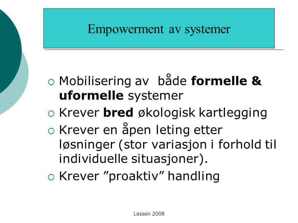 Empowerment av systemer