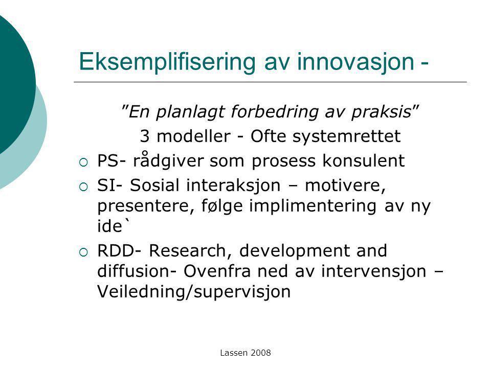 Eksemplifisering av innovasjon -