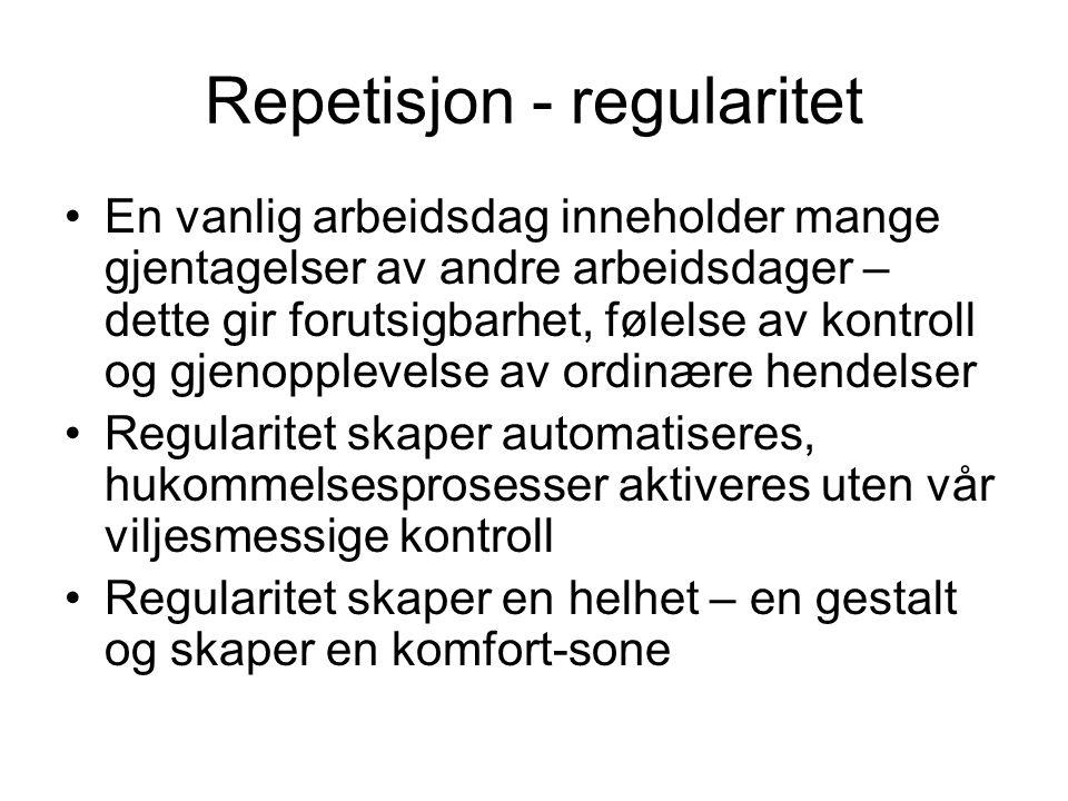 Repetisjon - regularitet
