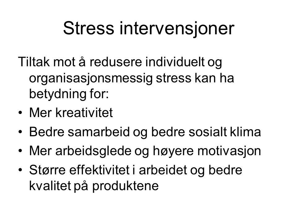 Stress intervensjoner