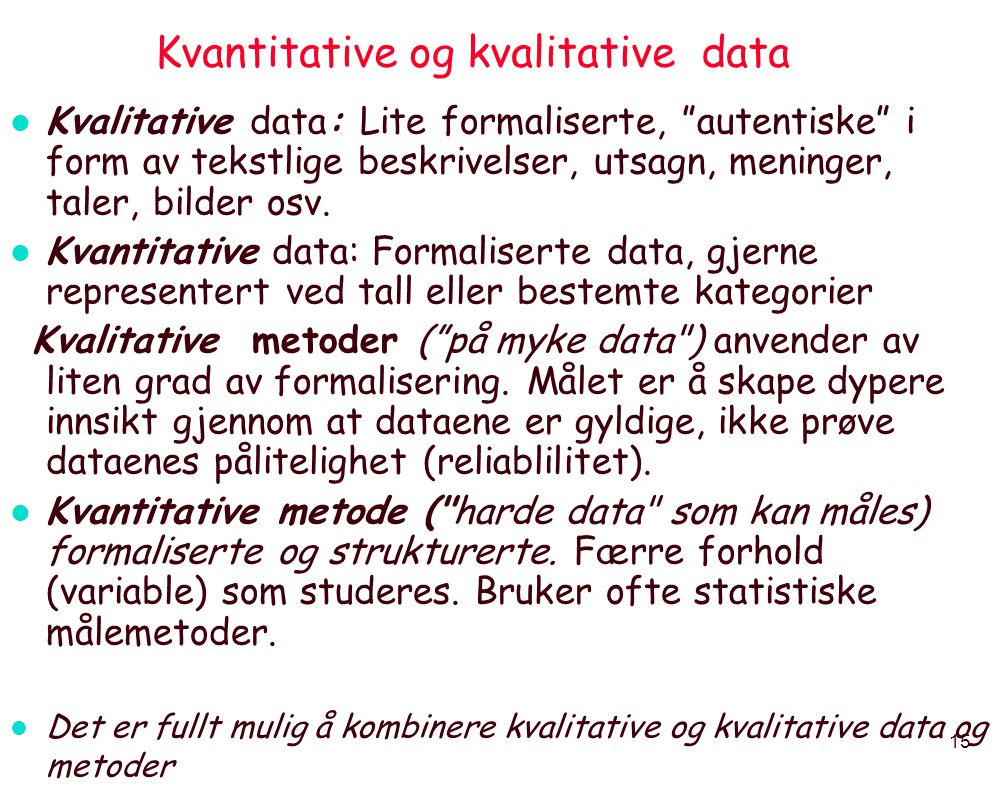 Kvantitative og kvalitative data