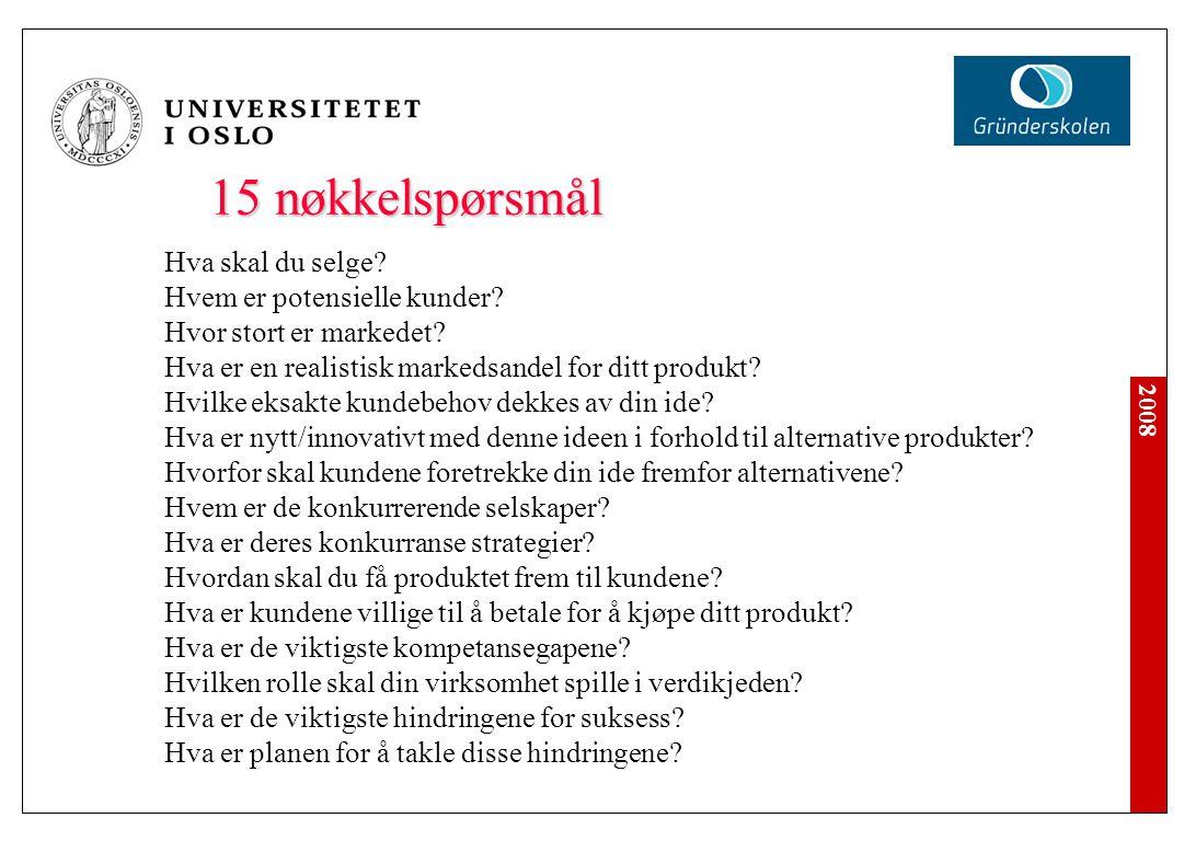 Sammendrag Formål: Gi en tidspresset investor en rask oversikt over forretningsplanens viktigste punkter.