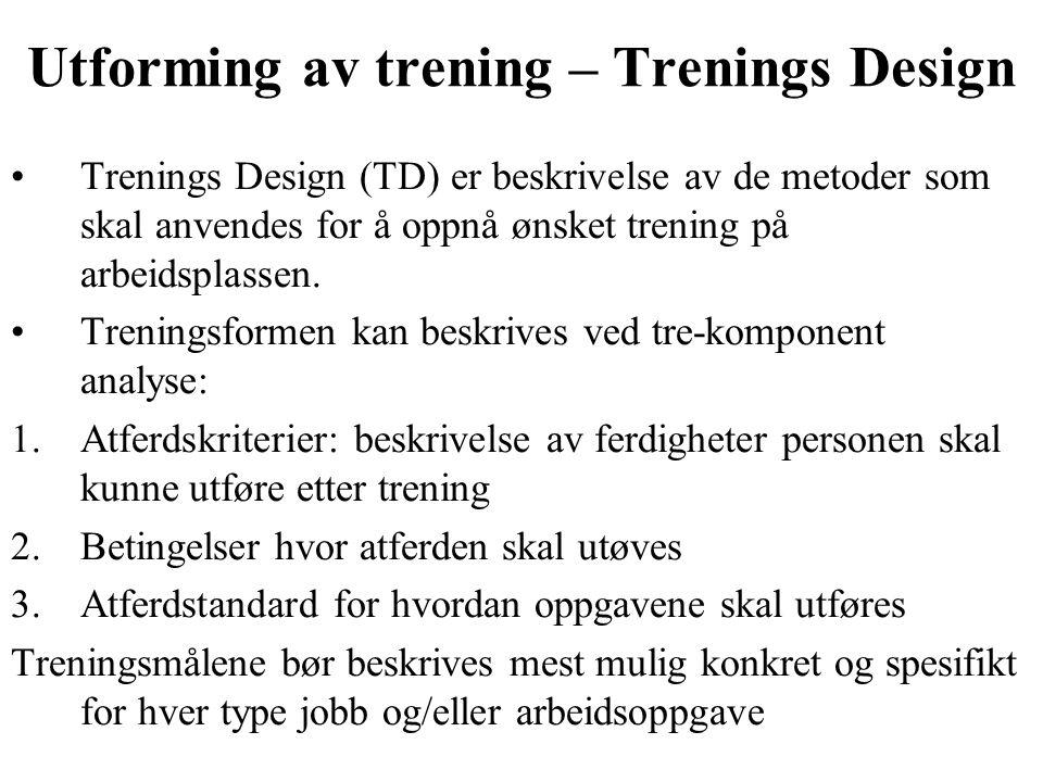 Utforming av trening – Trenings Design