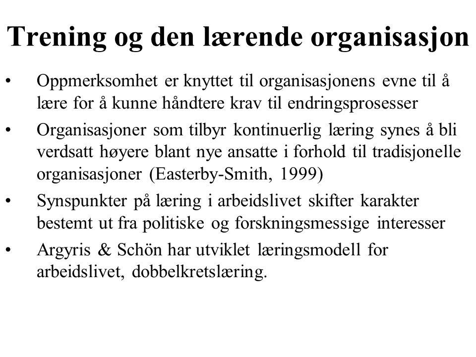 Trening og den lærende organisasjon