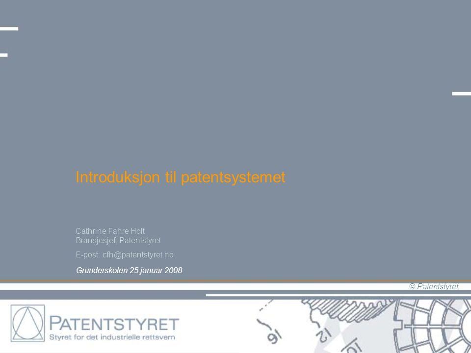 Introduksjon til patentsystemet