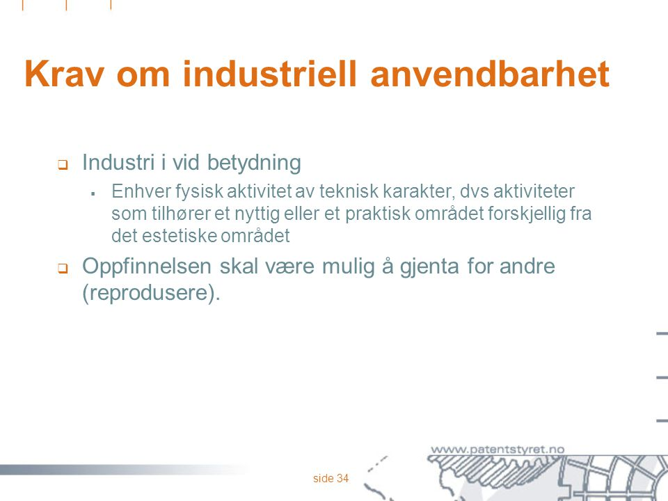 Krav om industriell anvendbarhet