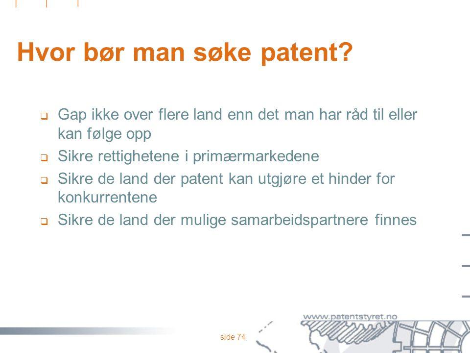 Hvor bør man søke patent