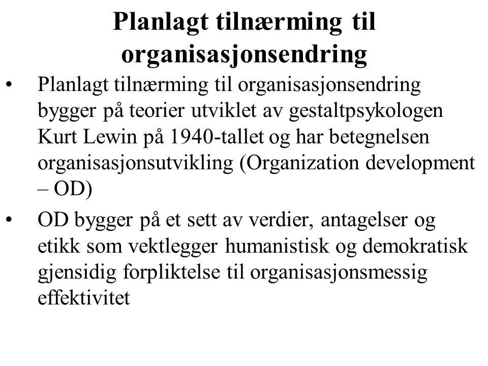 Planlagt tilnærming til organisasjonsendring