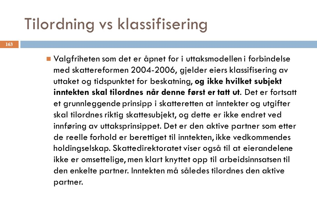Tilordning vs klassifisering