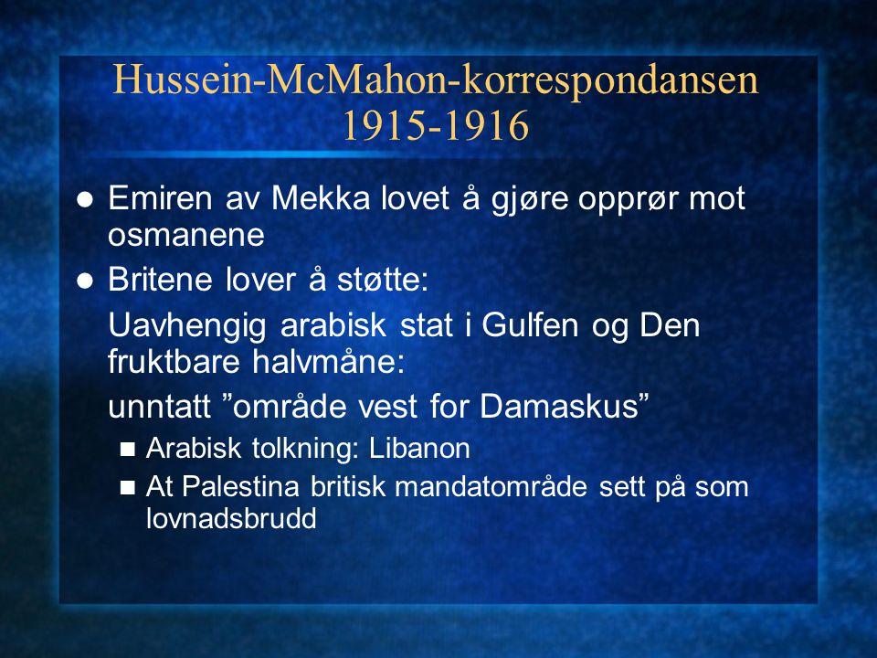 Hussein-McMahon-korrespondansen 1915-1916
