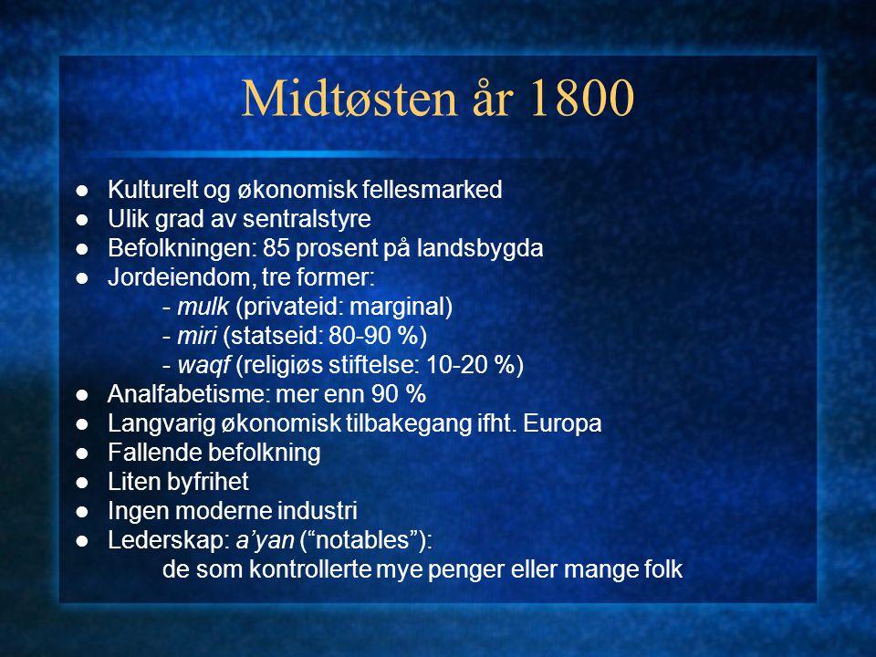 Midtøsten år 1800 Kulturelt og økonomisk fellesmarked