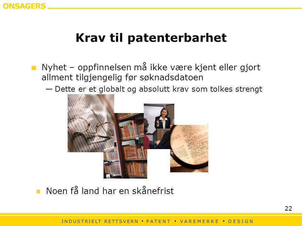 Krav til patenterbarhet