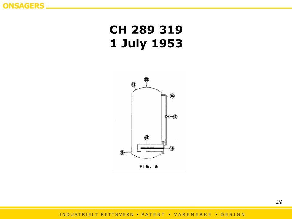 CH 289 319 1 July 1953