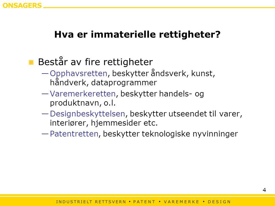 Hva er immaterielle rettigheter