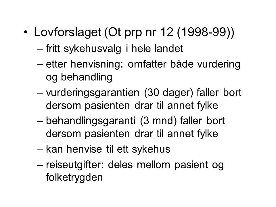 Lovforslaget (Ot prp nr 12 (1998-99))