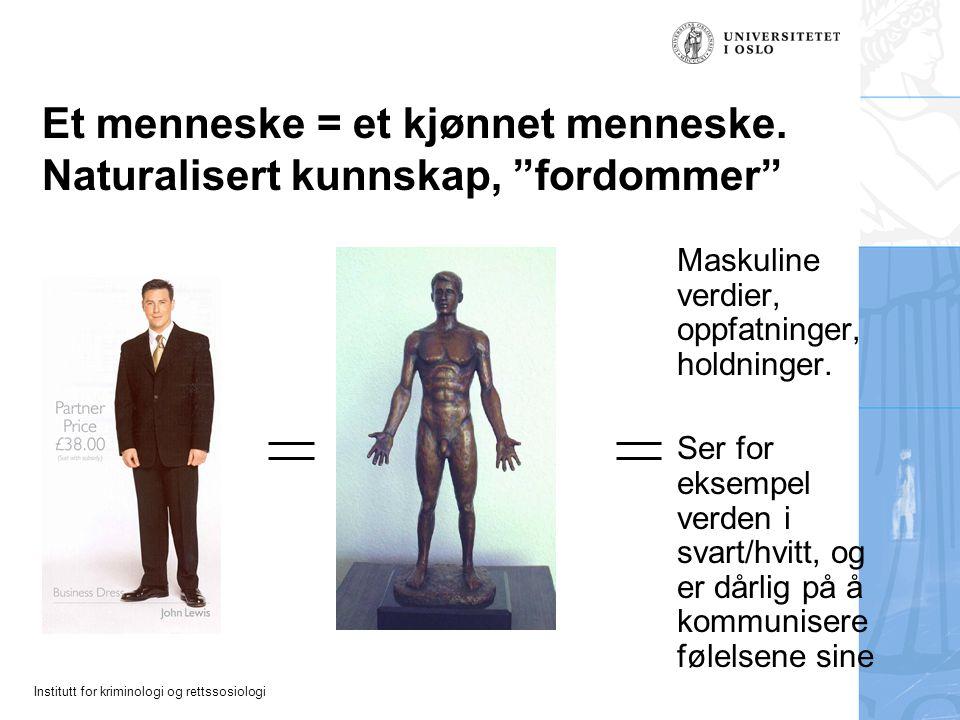 Et menneske = et kjønnet menneske. Naturalisert kunnskap, fordommer