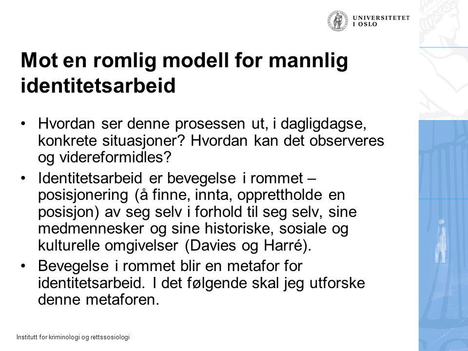 Mot en romlig modell for mannlig identitetsarbeid