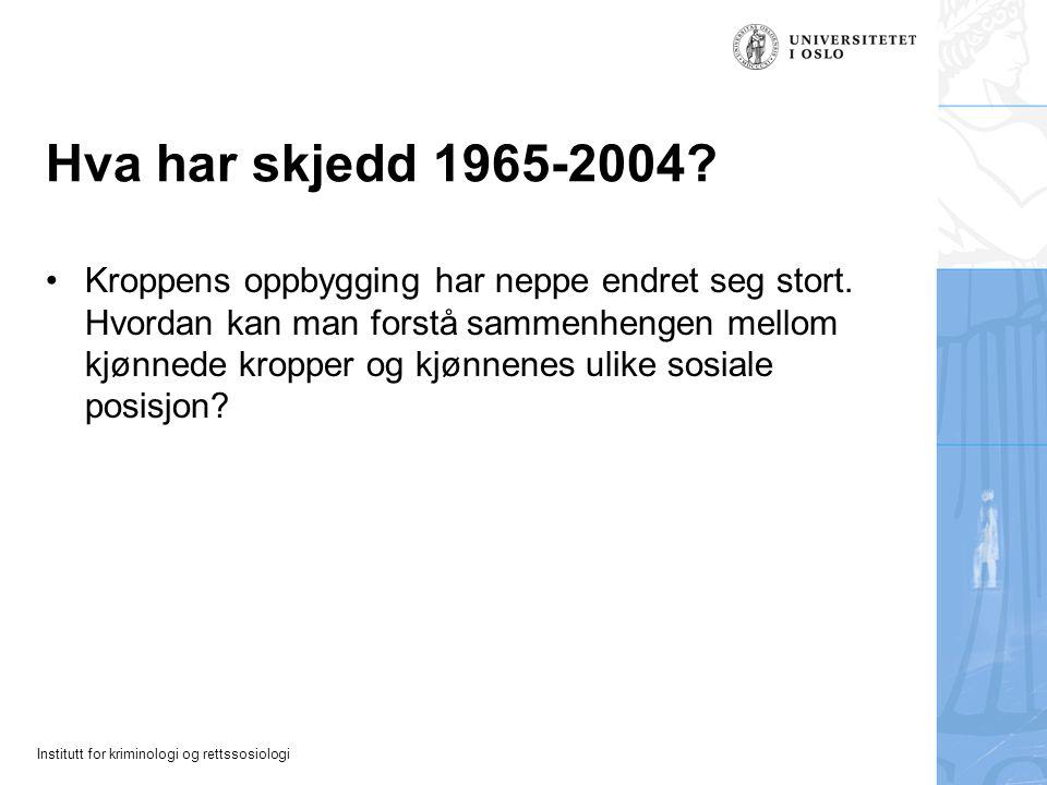 Hva har skjedd 1965-2004