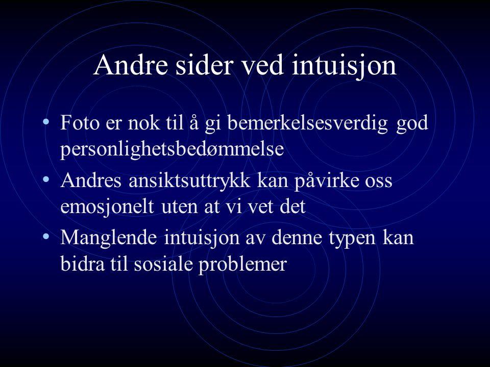 Andre sider ved intuisjon