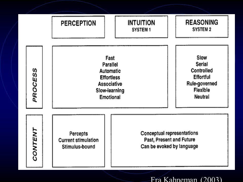 Fra Kahneman (2003)