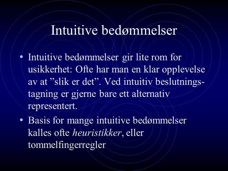 Intuitive bedømmelser