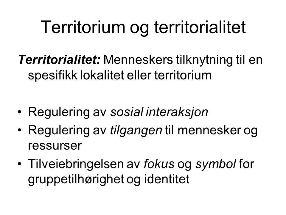 Territorium og territorialitet