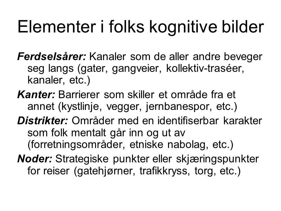 Elementer i folks kognitive bilder