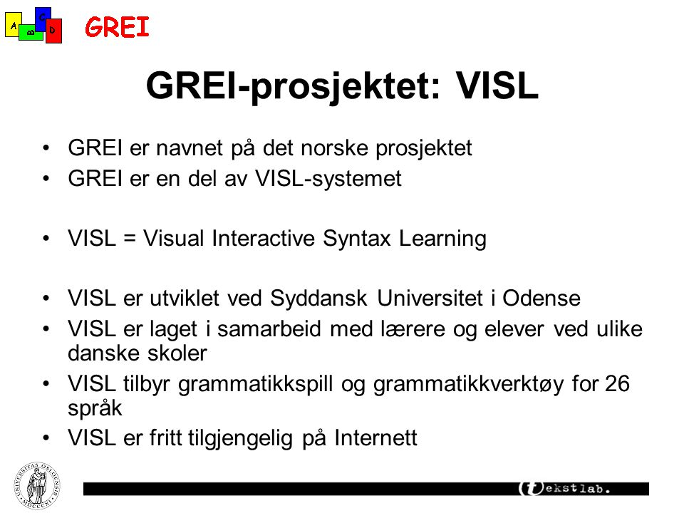 GREI-prosjektet: VISL