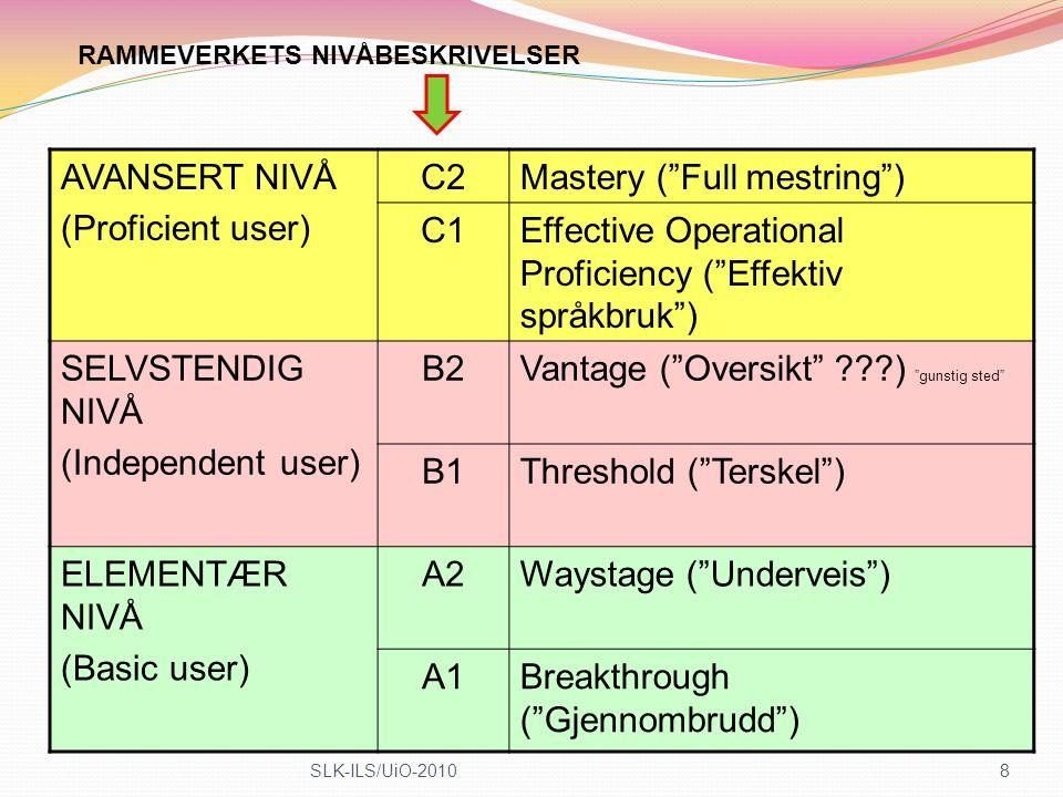 Mastery ( Full mestring ) C1