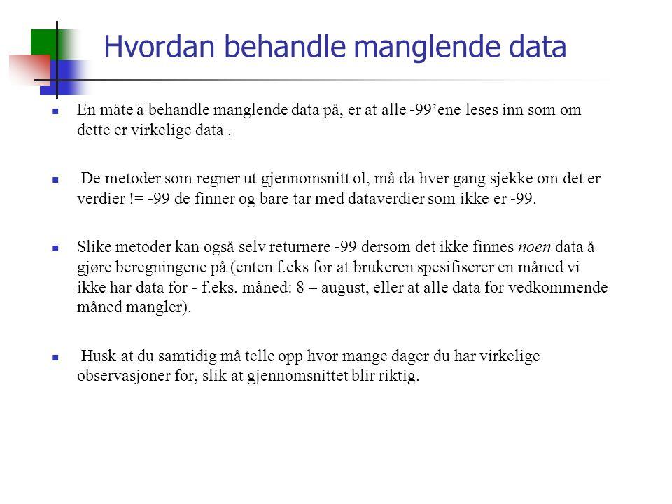 Hvordan behandle manglende data