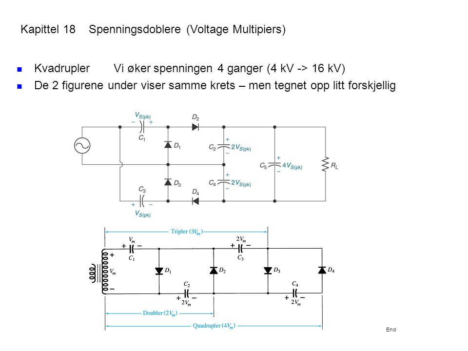 Kapittel 18 Spenningsdoblere (Voltage Multipiers)