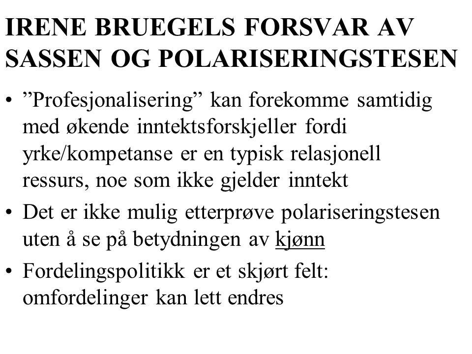 IRENE BRUEGELS FORSVAR AV SASSEN OG POLARISERINGSTESEN