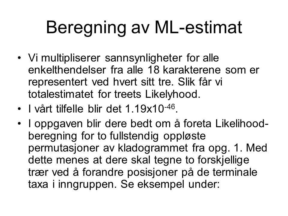 Beregning av ML-estimat