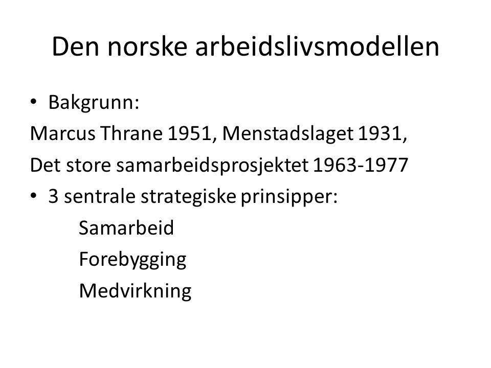 Den norske arbeidslivsmodellen