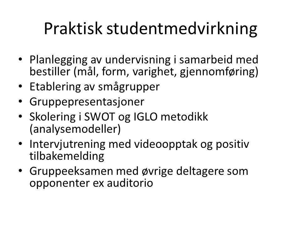 Praktisk studentmedvirkning