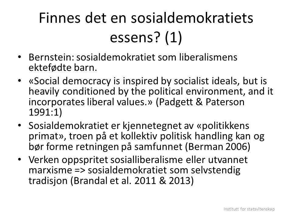 Finnes det en sosialdemokratiets essens (1)
