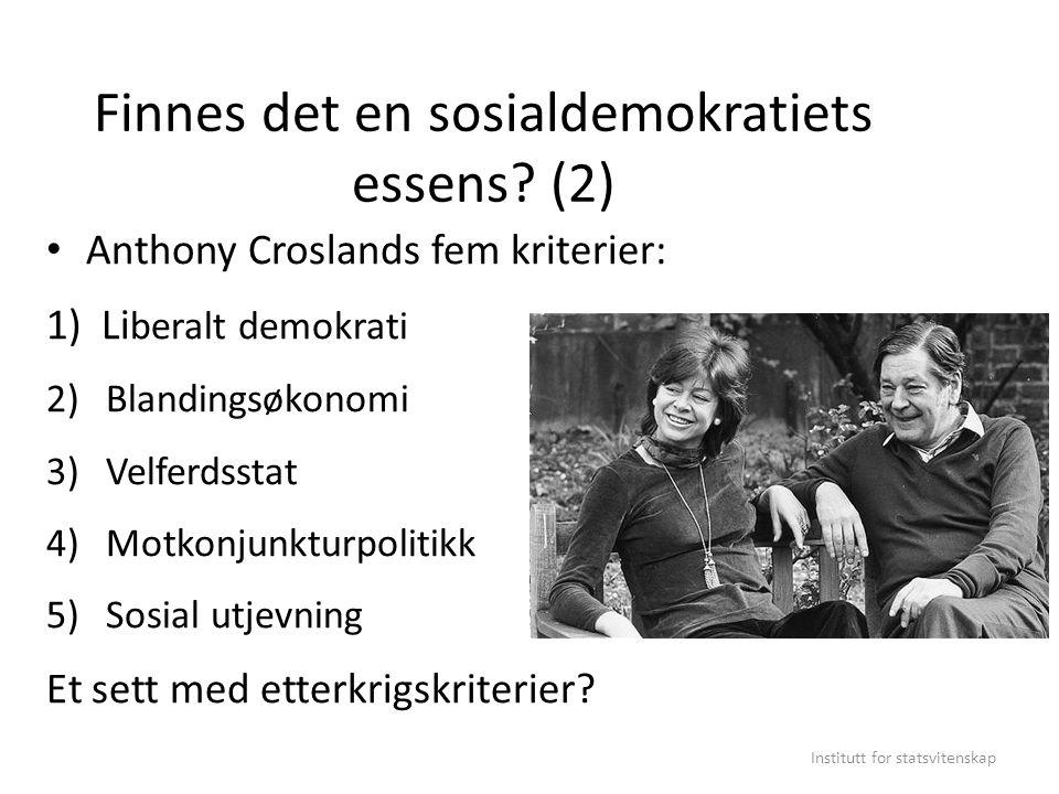 Finnes det en sosialdemokratiets essens (2)