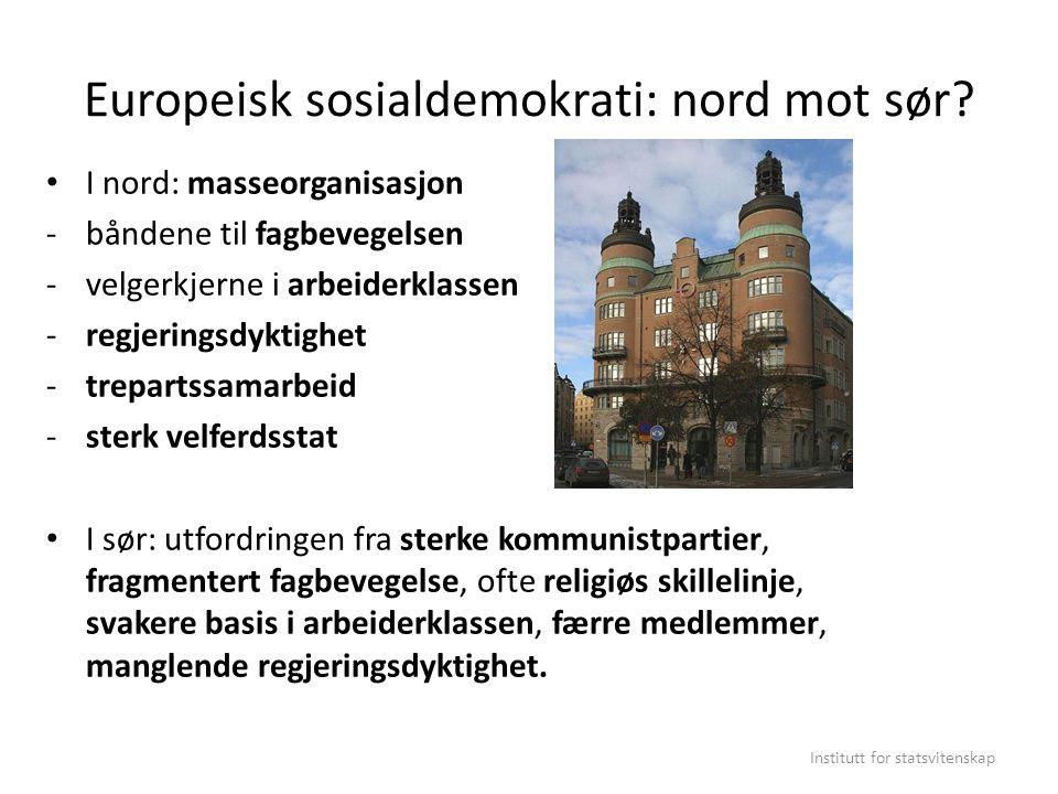 Europeisk sosialdemokrati: nord mot sør