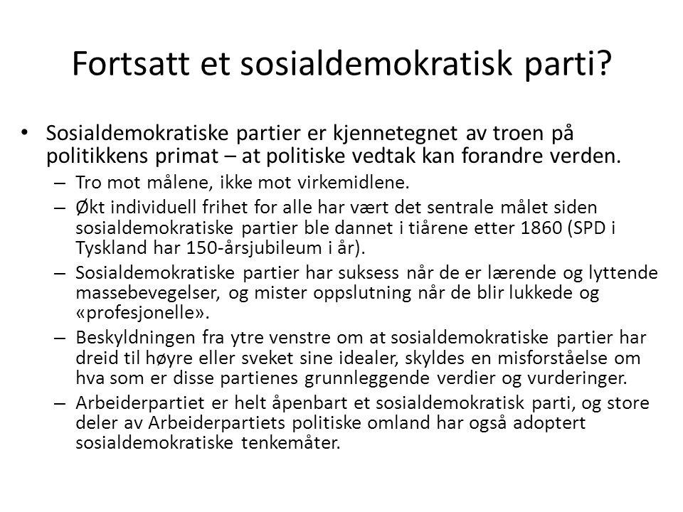 Fortsatt et sosialdemokratisk parti