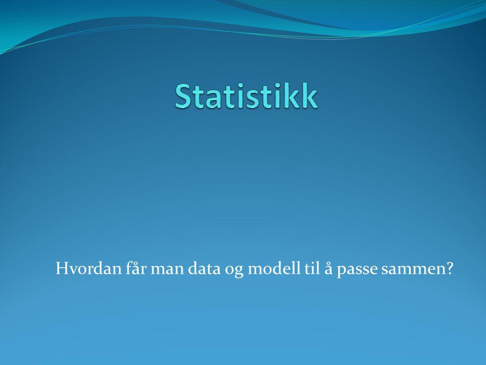 Hvordan får man data og modell til å passe sammen