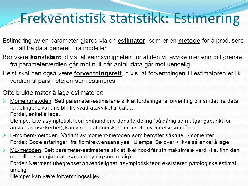 Frekventistisk statistikk: Estimering