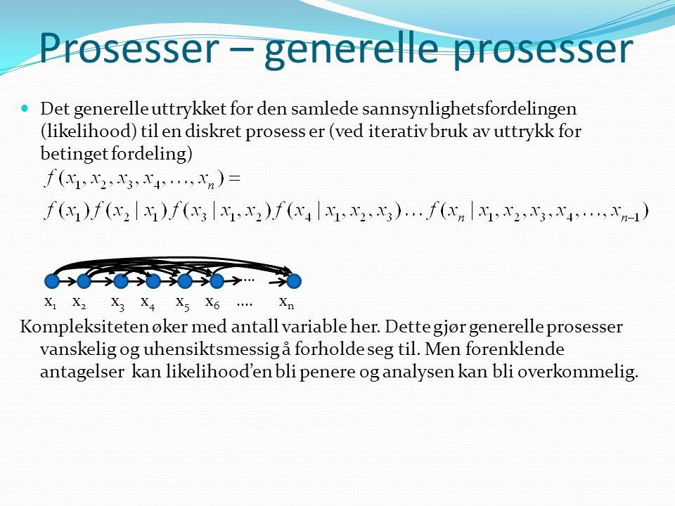 Prosesser – generelle prosesser