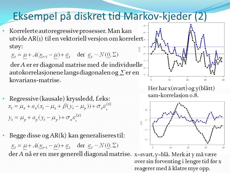 Eksempel på diskret tid Markov-kjeder (2)